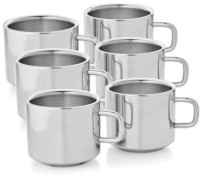 Aoito Stainless Steel Stainless Steel (125 ml, Pack of 6) Stainless Steel Mug