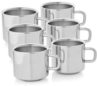Aoito Stainless Steel Stainless Steel (125 ml, Pack of 6) Stainless Steel Mug(125 ml, Pack of 6)
