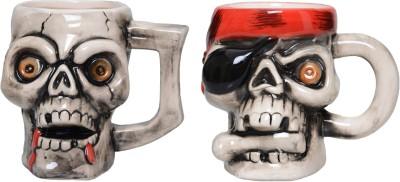 Lifestyle-You 2 Pcs Creepy Cool Pirate Skull IG52_F Ceramic Mug