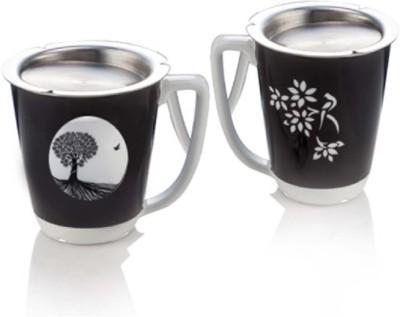 Arttdinox Kalpataru Ceramic, Stainless Steel Mug