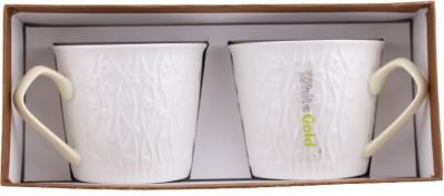 White Gold 923 Beige Porcelain Mug