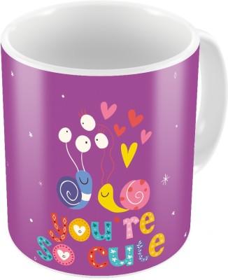 Indiangiftemporium Designer Romantic Printed Coffee  Pair 444 Ceramic Mug