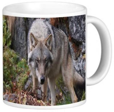 Rikki Knight LLC Knight Ceramic Coffee , Wolf Design Ceramic Mug