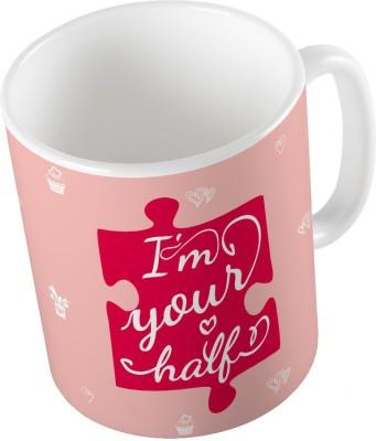 Indiangiftemporium Designer Romantic Printed Coffee  691 Ceramic Mug