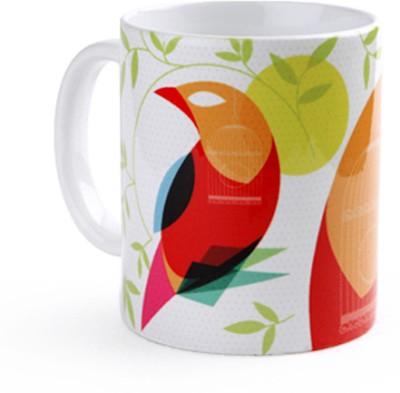 Studio Pandora Indian Mynah Ceramic Mug
