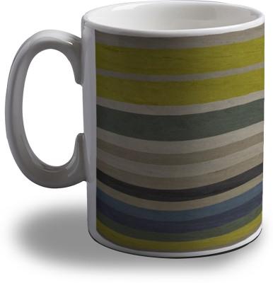 Artifa Colored Stripes Amg1166 Porcelain, Ceramic Mug