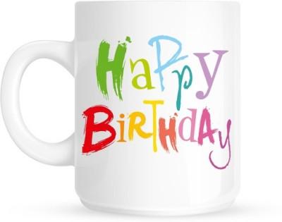 Hainaworld Colourful Happy Birthday Coffee  Ceramic Mug