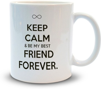 Shoppers Bucket Keep Calm & Be my Best Friend Ceramic Mug