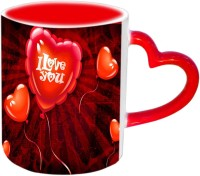 Jiya Creation1 I Love you for Mother's day In Heart Balloones Red Heart Handle Ceramic Mug(3.5 ml) best price on Flipkart @ Rs. 399