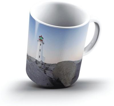 Ucard PeggyS Point Lighthouse PeggyS Cove St MargaretS Bay Nova Scotia2584 Bone China, Ceramic, Porcelain Mug
