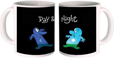 Shopkeeda Day & Night Ceramic Mug