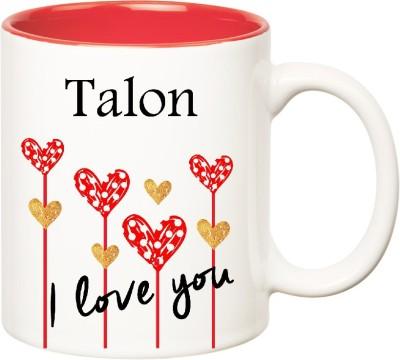 Huppme I Love You Talon Inner Red  (350 ml) Ceramic Mug