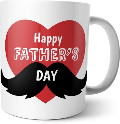 Chiraiyaa Happy Fathers Day - Sons Hero Daughters Love Big Heart Ceramic Mug
