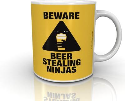 Bcreative Beware Beer Steeling Ninja,s (Officially Licensed) Ceramic Mug