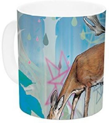 Kess InHouse InHouse Mat Miller Glade Ceramic Coffee , 11 oz, Multicolor Ceramic Mug