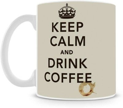 Saledart Mg292-Keep Clam And Drink Coffee Ceramic Mug