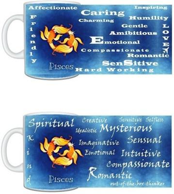 CreativesKart Zodiac Pisces (M) Pisces (F) Compatibility  Ceramic Mug