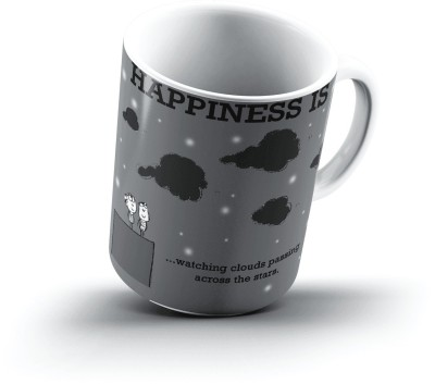 Ucard Happiness Is2204 Bone China, Ceramic, Porcelain Mug