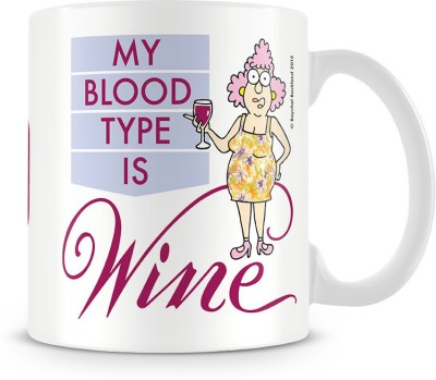 Aunty Acid My blood type is Wine Ceramic Mug