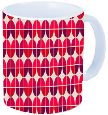 Rawkart Red Pattern Ceramic Mug