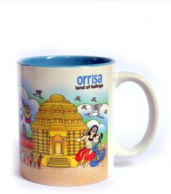 Indiavibes Coffee & Tea Orrisa Theme Printed Ceramic Ceramic Mug