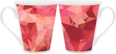 HomeSoGood Structural Pattern Latte Of Pyramid Ceramic Mug