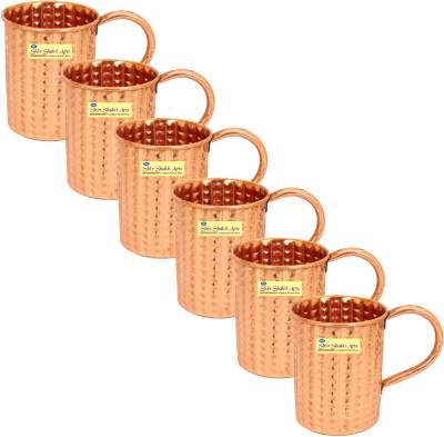 SSA Set of 6 Diamond Style Copper Mug