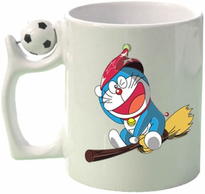 Huppme Gifts Flying Doreamon Football  Ceramic Mug