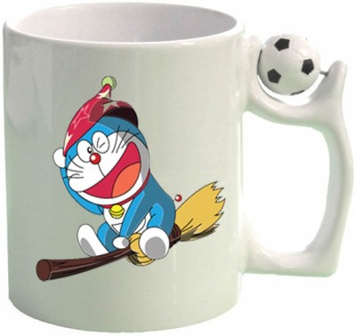 Huppme Doraemon Football  Ceramic Mug
