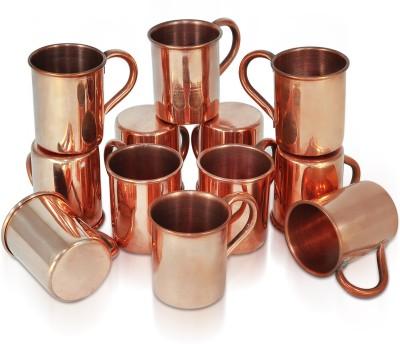 Dungri India Craft Set of 12, copper hammered 70 ML / 2.3 oz SHOT Moscow Mule Vodka  - Cocktail Copper Mug