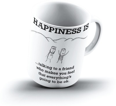Ucard Happiness Is1358 Bone China, Ceramic, Porcelain Mug
