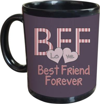 Sajawat Homes Best Friend Forever Black Coffee Ceramic Mug