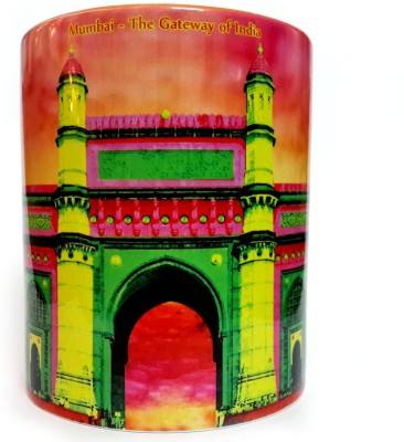 Indiavibes Printed Coffee Tea  with Gateway Of India Theme Ceramic Mug