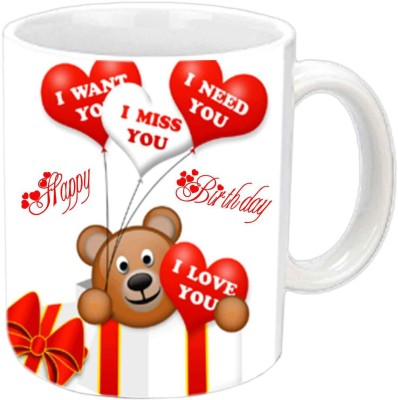 RajLaxmi teddys love lover b,day white mug Ceramic Mug