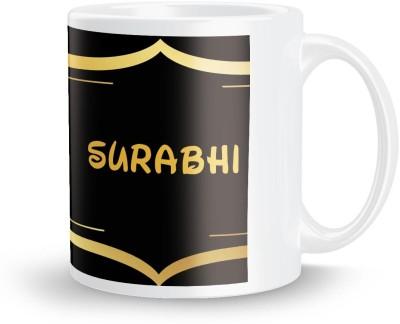 posterchacha Surabhi Name Tea And Coffee  For Gift And Self Use Ceramic Mug