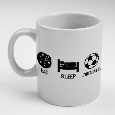 Prokyde Prokyde EAT SLEEP FOOTBALL  Ceramic Mug