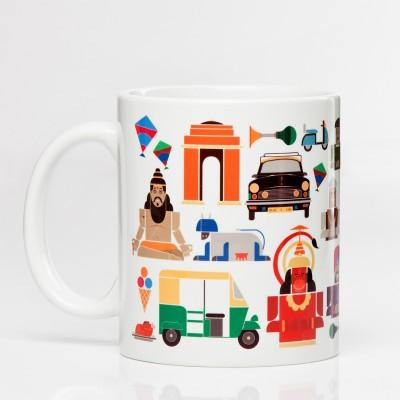 LetterNote Delhi White Ceramic Mug
