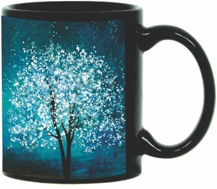 Printland Printland Blue Black Coffee 350 - ml Ceramic Mug(350 ml) best price on Flipkart @ Rs. 349