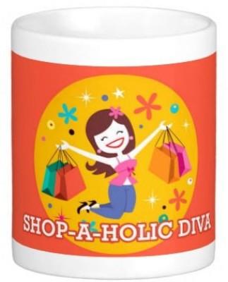 exciting Lives Shopaholic Diva  Ceramic Mug