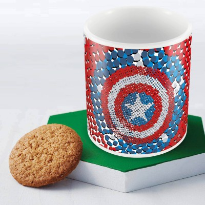 Marvel Captain America -design Officially Licensed Ceramic Mug