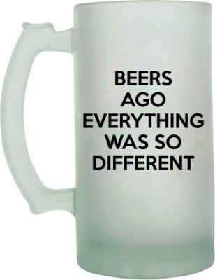 Keep Calm Desi Beers Ago Frosted Beer  Glass Mug