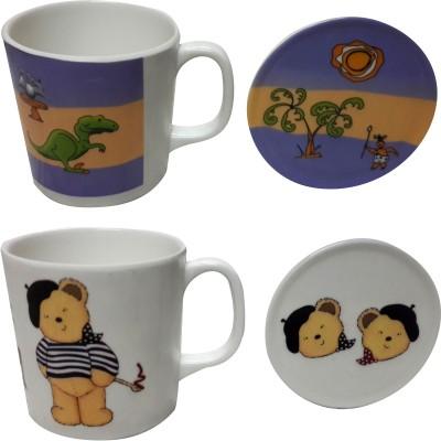 Zido Dinasour And Bear Melamine Mug