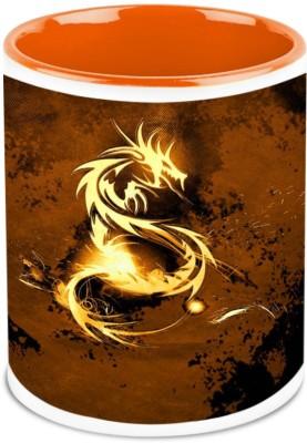 HomeSoGood The Golden Dragon Ceramic Mug