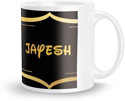 posterchacha Jayesh Name Tea And Coffee  For Gift And Self Use Ceramic Mug