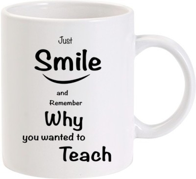 Lolprint Just Smile Teachers Day Ceramic Mug