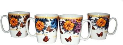 SNYTER FLOWERS N BUTTERFLY SET Ceramic Mug