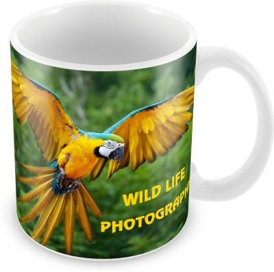 Prinzox Yellow Parrot Theme-Wildlife Ceramic Mug
