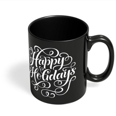 PosterGuy Happy Holidays Typo Typo, Happy, Holidays, Festivals, Travel, Trip Ceramic Mug