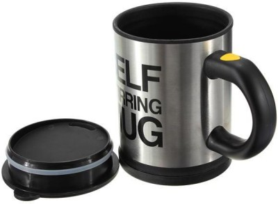 Greggs Self Stirring Plastic, Stainless Steel Mug