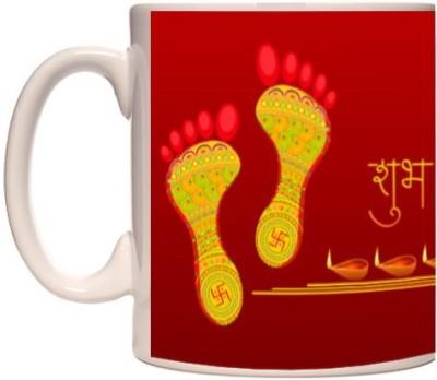 Onlineworld Diwali Theme - 14 Ceramic Mug